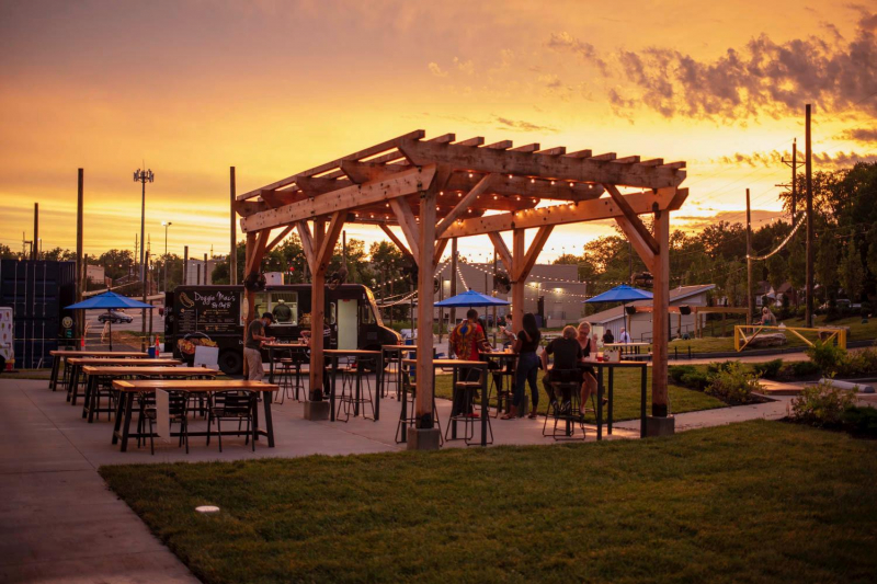 Canteen at 9 Mile patio - sunset